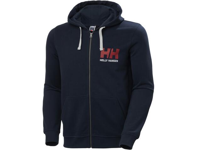 Helly Hansen HH Logo Felpa Con Cerniera Intera Uomo, navy